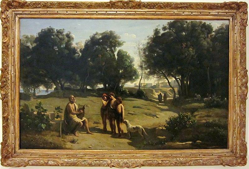 Jean-Baptiste Corot -Homère et les bergers