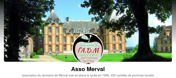 Page FaceBook de l'association du domaine de Merval